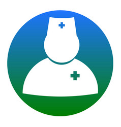 doctor sign white icon in vector image