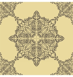 Floral round pattern element vector