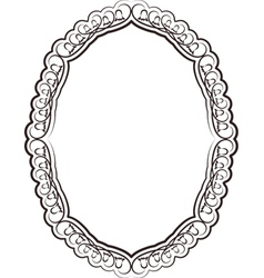 frame oval vector image vector image