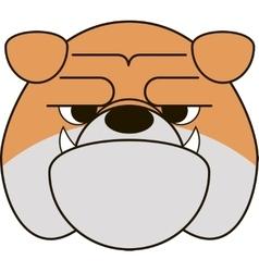 Funny bulldog vector