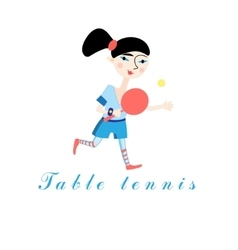Girl with a tennis racket vector image