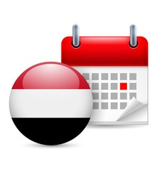 Icon of national day in yemen vector