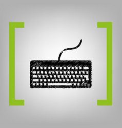 keyboard simple sign black scribble icon vector image