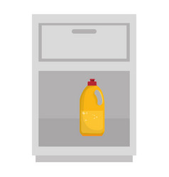 Laundry shelf with bottle isolated icon vector