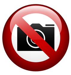 no camera mark vector image
