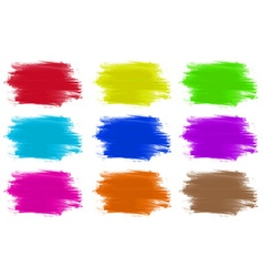 Paint colours set of 9 vector image vector image