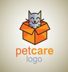 Pet care logo 8 vector