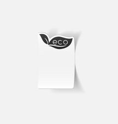 Realistic design element eco sign leaf vector