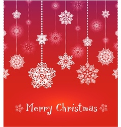 red christmas greeting card vector image