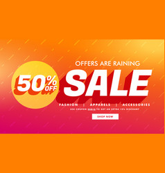 Sale promotional template with offer details for vector