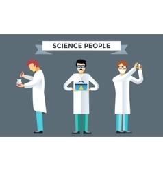 Science laboratory people set vector image