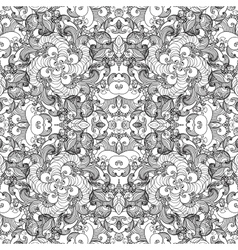 Seamless pattern with vintage ornament Background vector image