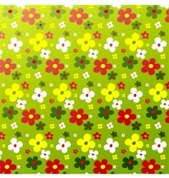 Simple flower pattern colorfulness cute vector