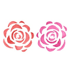 Stylized watercolor roses vector image