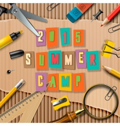 Summer Camp themed poster vector image vector image