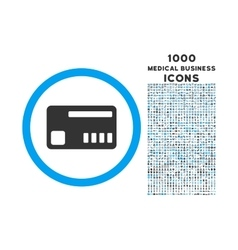 Ticket Rounded Symbol With 1000 Icons vector image