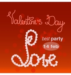 Valentine s day banner for party vector