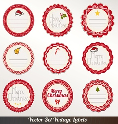 Xmas Frame labels Set vector image vector image