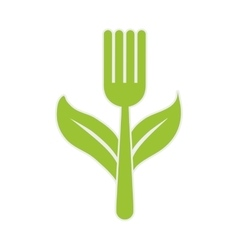 Leaf fork healthy food icon graphic vector