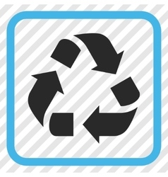 Recycle icon in a frame vector