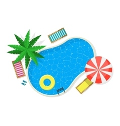 Swimming pool for card or poster vector