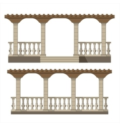 Set of pergola vector