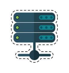 Cartoon data server technology system vector
