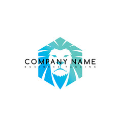 Lion king brand template logo logotype art vector