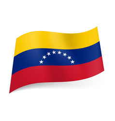 National flag of venezuela yellow blue and red vector