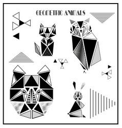 Geometric animals vector