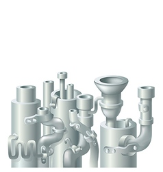 Industrial metal pipe stack design vector