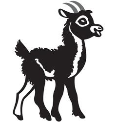 Little black goat vector image