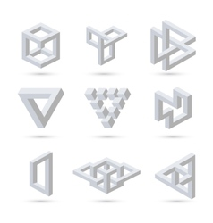 Geometric optical symbols vector image