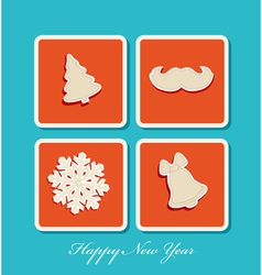 New year holiday christmas icons vector
