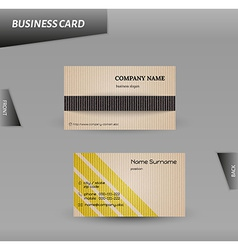 Modern design cardboard business card template vector