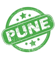 Pune green stamp vector