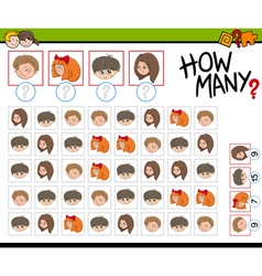 Counting activity for children vector