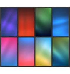 Blurred backgrounds set vector