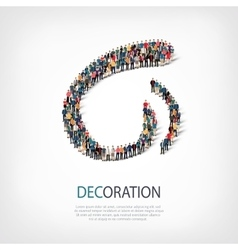 Decoration people sign 3d vector