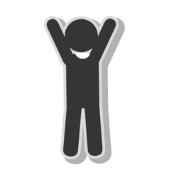 Male hands up pictogram vector