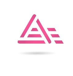 A letter logo vector
