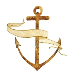 Anchor with stripe vector