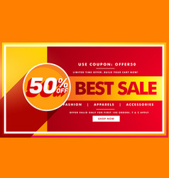 Best sale banner and sale voucher design for vector