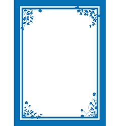 Blue floral corners background vector