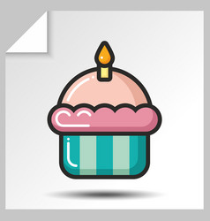Cakes muffins sweets icons 7 vector