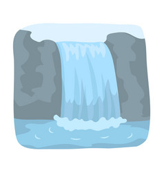 canadian waterfall canada single icon in cartoon vector image