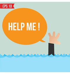 Cartoon business man shouting for help - - E vector image vector image