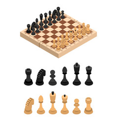 chess and parts isometric view vector image vector image