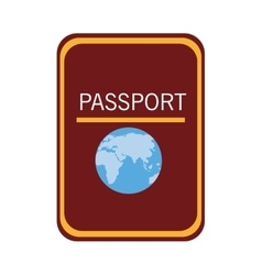 Colorful passport adn world map graphic vector