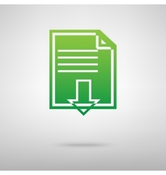 File download green icon vector